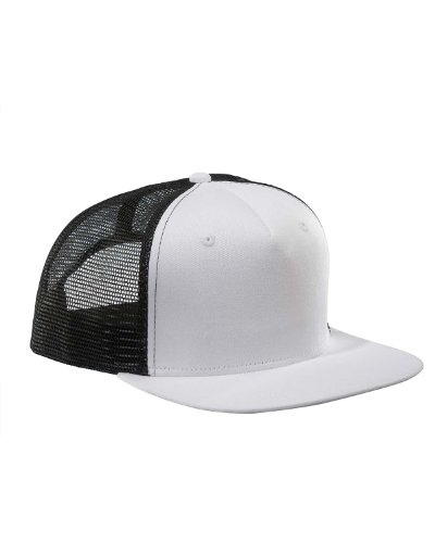 BX025 BX BX025 FLT BILL SRF/TRCK CAP WHITE/ BLACK OS