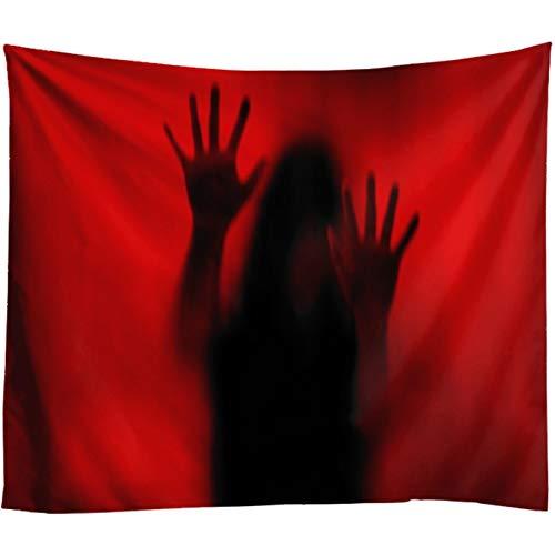 N/A Wandteppich Dekoration 3D-Druck Rote Halloween Wandbehang Kunst Ghost Print Terror Scream Home Decor Wohnzimmer Schlafzimmer Wandteppich Teppich Schlafzimmer Wandkunst (130 X 150 cm)