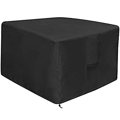 Fire Pit Cover Square - Patio Fire Pit Table Cover Heavy Duty Fabric with PVC Coating, Fade & Weather Resistant, 100% Waterproof, Anti-UV Fire Bowl Cover for Fire Pit and Outdoor Furniture(36 x 36in)