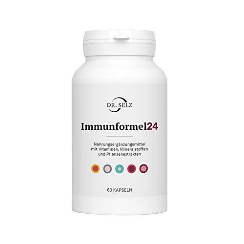 Dr. Selz Immunformel24 mit Vitamin C (Ester-C©), Zink, OPC Traubenkernextrakt, Bromelain und Quercetin, 100% vegan, Laborgeprüft, Premiumqualität, 60 Kapseln