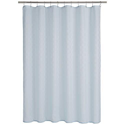 Amazon Basics - Cortina de ducha de poliéster estilo Bowery, cielo azul, 183 x 200 cm