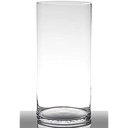 Redondo /Ø 10cm Jarr/ón de Cristal Decorativo Florero Grande INNA-Glas Jarr/ón de Suelo Roman 50cm cil/índrico Transparente