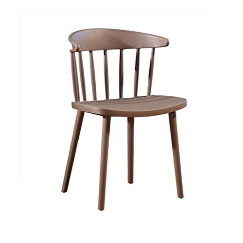 NAN liang Chaise de salle à manger avec dossier ouvert, chaises modernes inclinées dans le milieu du siècle, cuisine empilable pour la salle à manger de la chambre à coucher, 8 couleurs