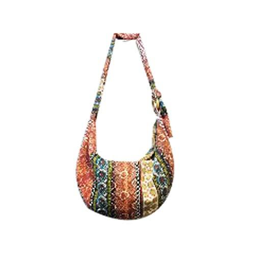 Yuncai Bolso Tote de Lona de Color para Mujer, Bolsos de Hombro para Viajes, Uso Diario (Style#4)
