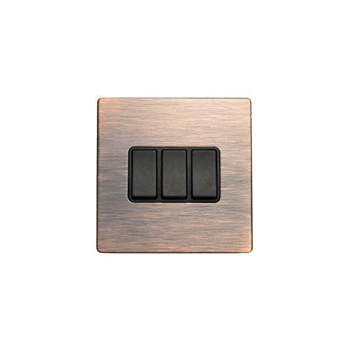 Hamilton LiteStat 8CBCR23BL-B Interruptores basculantes negro cobre bronce