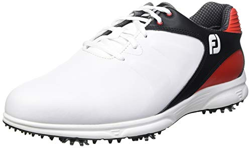 FootJoy FJ ARC XT, Zapatillas de Golf para Hombre, Blanco (Blanco/Negro/Rojo 59760m), 43 EU
