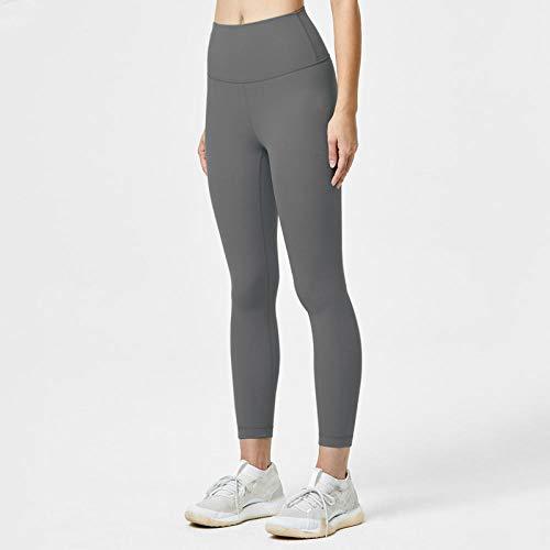 RRUI Vrouwen Panty Leggings Nieuwe running effen kleur naakt sport panty heupen zonder sporen sportbroek vrouwen lichtblauw L