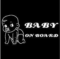 4個の車のステッカー18.2X9.5CM面白い漫画のビニールの車のステッカーボード上の赤ちゃんバンパーウィンドウ装飾アクセサリー