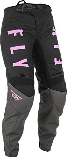 Fly Racing 2022 Youth Girl's F-16 Pants (Grey/Black/Pink, 24)