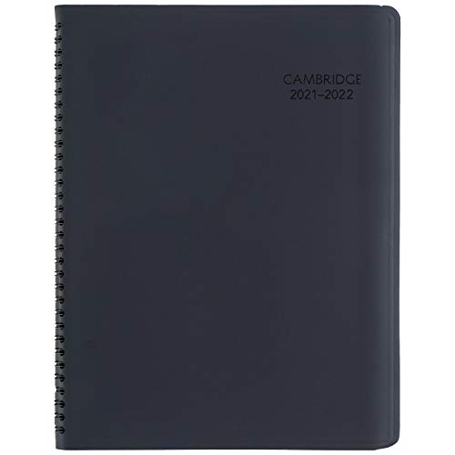 Academic Planner 2021-2022, Cambridge Business Weekly & Monthly Appointment Book & Planner, 8' x 11', Large, for School, Teacher, Student, Navy (CAW60220)