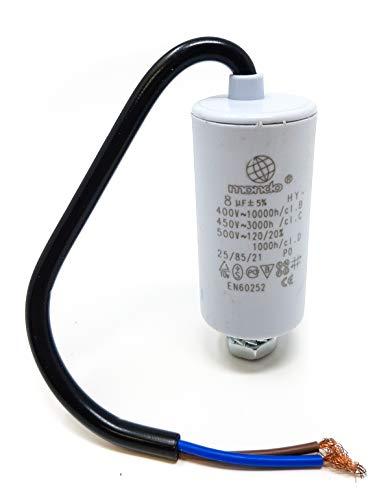 Motorcondensator met kabel 8μF / 450V