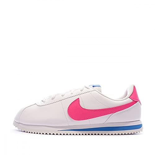 Nike Boys Cortez Basic SL (GS) Shoe, Scarpe da Trail Running Bambino, Multicolore (White/Hyper Pink/Photo Blue/Black 107), 35.5 EU