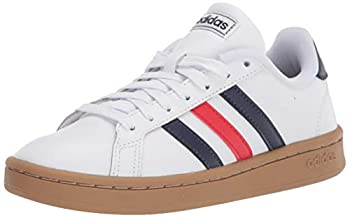 adidas mens Grand Court Tennis Shoe White/Trace Blue/Active Red 10 US