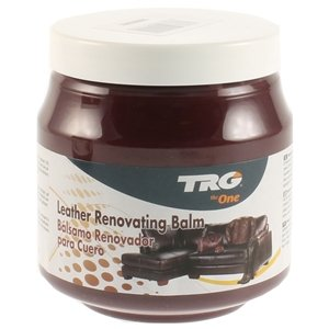 TRG Leather Renovating Balm - Suitable for Leather Car Interior, Leather Furniture, Jackets and bags 300ml (Various Colours Available) (Bordeaux)