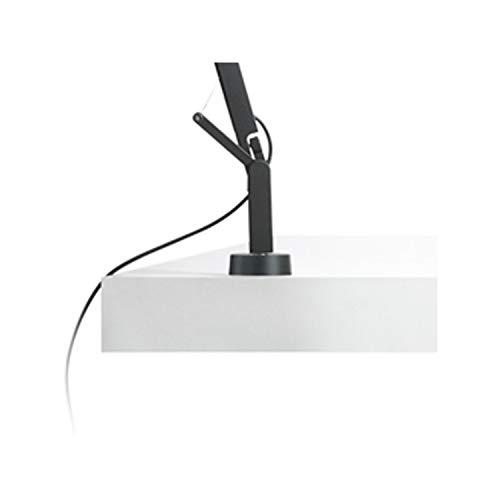 Soporte Fijo para lámpara de de Mesa, diseño Polo, Color Blanco, 5 x 5 x 9,5 centímetros (Referencia: A642-016)