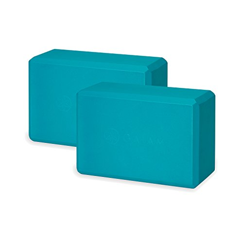 Gaiam Essentials Yoga Block (Set of 2) - Supportive Latex-Free EVA Foam Soft Non-Slip Surface for Yoga, Pilates, Meditation, Vivid Blue