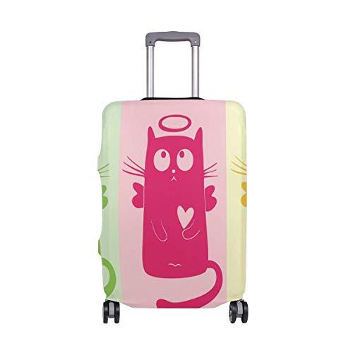 IUBBKI Funda de Equipaje de Viaje Protector de Maleta de Dibujos Animados de Gato de Color Se Adapta a L Fundas de Equipaje Lavables
