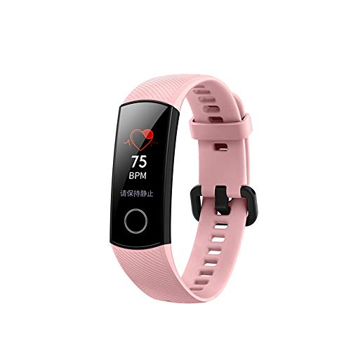 Huawei Honor Band 4, Reloj pulsera de fitness con monitor de frecuencia cardíaca IP67 impermeable Monitorizador de actividad Rastreador Monitor (Rosa)