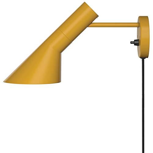 AJ Wall Lamp, Louis Poulsen, Lámpara de Pared Diseñada por Arne Jacobsen (Amarillo Ocre)