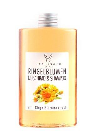 Lashuma Ringelblumen Duschbad & Shampoo mit Ringelblumenextrakt, Pflegedusche 200 ml
