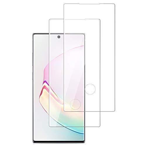 OUJD [2 Piezas] Protector de Pantalla para Samsung Galaxy Note 10 Plus, Transparente HD Film Cristal Templado Protector de Pantalla, 9H Dureza Sin Burbujas Anti-Arañazos