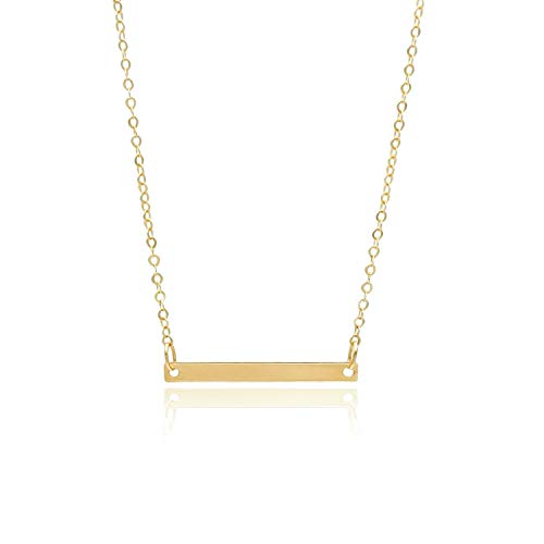 Women's Gold Necklace with Tag All 14K Gold Weight 1 g