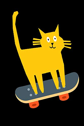 Cat Skateboarding Notebook Journal 120 College Ruled Pages 6 X 9