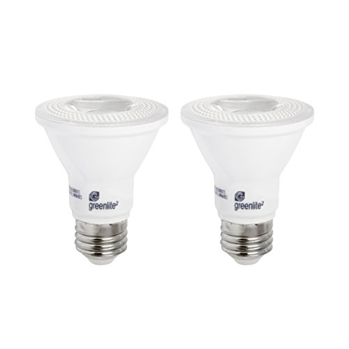LED PAR20 Dimmable Flood Light Bulb, 7W (50W Equivalent), 500 Lumens, 3000k Bright White, 30° Narrow Flood Beam Angle, Indoor/Outdoor, Weatherproof, 120V, Energy Star (2 Pack)