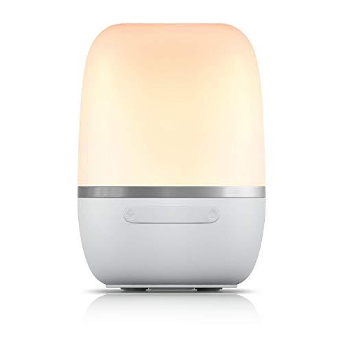 Smarte LED Nachttischlampe Meross IntelligenteDimmbar Atmosphäre Nachtlampe für Schlafzimmer Wohnzimmer, kompatibel mit Alexa, Google und SmartThings, mit USB-Kabel, kein Hub erforderlich