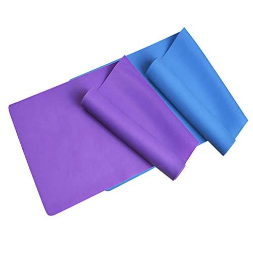 2 peças de cinta elástica durável para exercícios físicos da Besportble, cinta elástica para treinamento de força para academia em casa interna (roxa + azul)