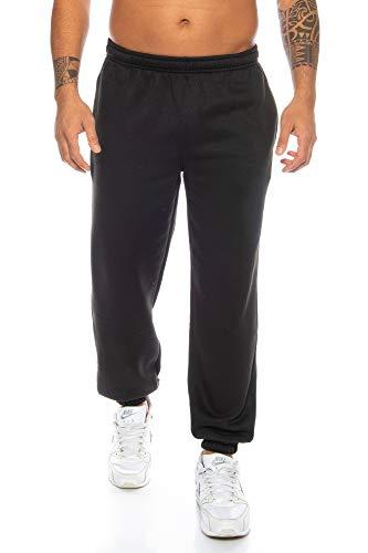 Raff & Taff Herren Hose M bis 6XL | Sporthose Sweatpants Pyjamas Übergrößen Funtionshose Trainingshose Jogginghose | Premium Baumwolle (Schwarz, 5XL)