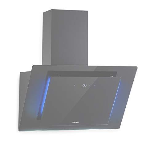 Klarstein Eleonora - Campana extractora de pared, Potencia 76 W, Iluminación LED, Touch Control, Consumo de energía 10 kWh/año, Aire de escape hasta 426 m³/h, Dimensiones 60 x 39 x 43 cm, Carbón