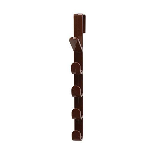 Opknoping Kapstokken Hat Kleren Bag Hanger Hook Holder Deur Van De Kast Van De Keukenkast Stijl Achterkant Vuilniszakken Opslag Holder Rack Organizer (Color : Chocolate)
