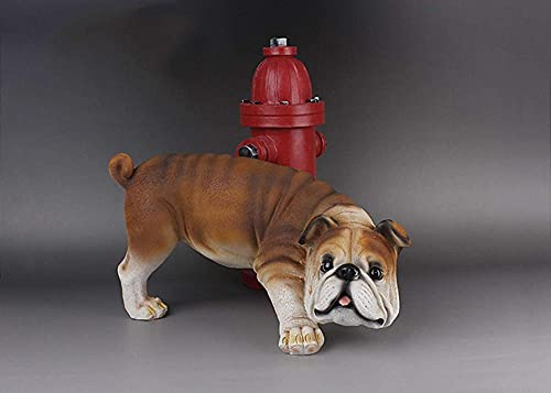 Scultura,Estatuas Escultura De Resina Estatua De Bulldog Inglés Bulldog Decoración Muñeca Estatuilla Pee Bulldog Decoración De Jardín Adornos Esculturas