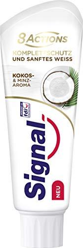 Signal 8 Actions Komplettschutz und sanftes Weiss (Kokos- & Minz-Aroma) 12er Pack (12 x 75 ml)