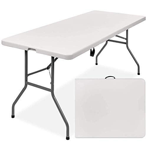Nestling® 1.56M 5ft Heavy Duty Folding Table for Catering Camping Table Trestle for BBQ Picnic Party