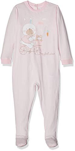 Chicco Tutina con Apertura Patello Mono Corto, Rosa (Rosa Chiaro 011), Recién Nacido (Talla del Fabricante: 044) para Bebés