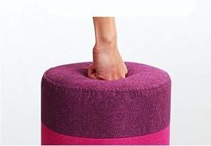Keraiz® Pouf repose-pieds en tissu ottoman rond et coloré Design rétro