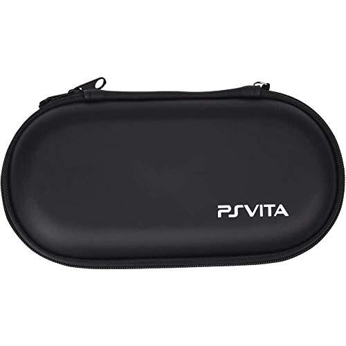Yuyanshop Funda con cremallera EVA negro con mosquetón para consola PSVITA Videojuegos