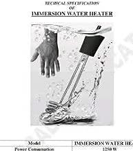 A & Y Shockproof/WATERPROOF 2000-W Metal Water Heater Immersion Rod, Black