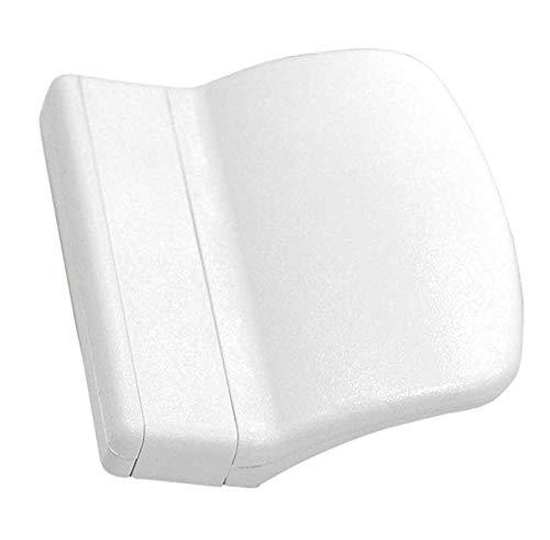 SILISTO Balkontürgriff, Maße circa 7 x 5,5 x 2,0 cm, 1 Stück, weiß RAL 9016, 8329151