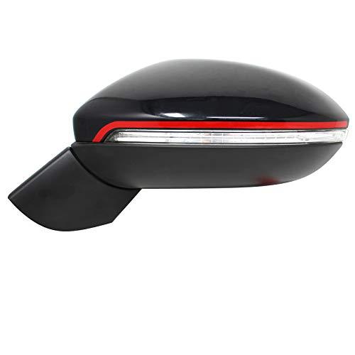 DS003 Spiegelstreifen von Finest-Folia Spiegel Aufkleber Folie Design Line Spiegelkappen Streifen (Karminrot)