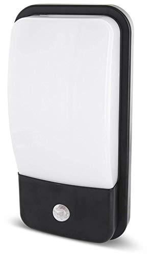 Lámpara LED 2 en 1 de pared IP65 con detector de movimiento y sensor crepuscular, 20 W, 1600 lm, blanco cálido (3000 K)