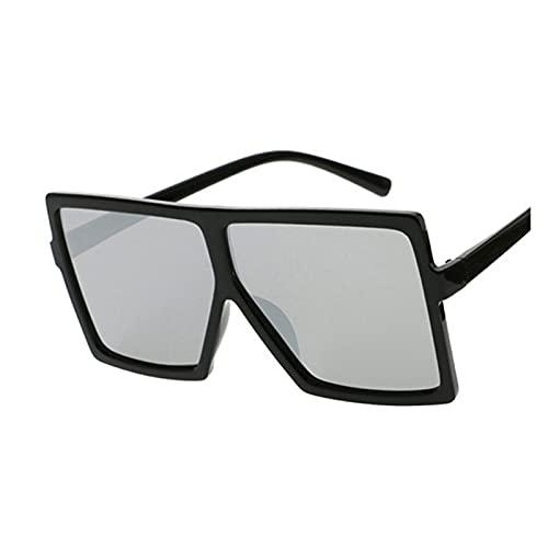 Gafas de sol cuadradas para mujer, gafas de sol para mujer, marco de plástico, lente transparente UV400, sombra de conducción de moda, color rosa