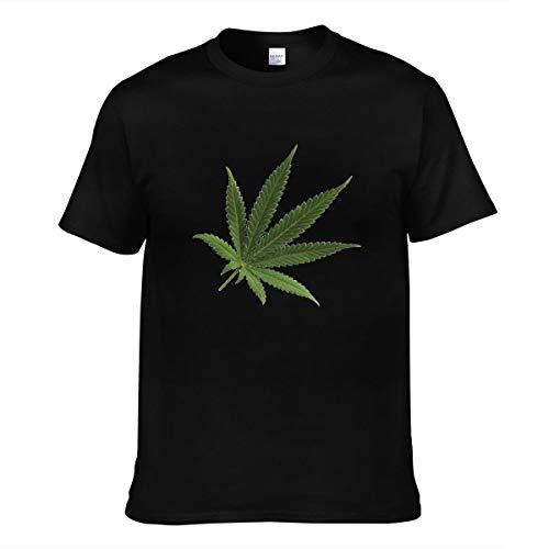 EINST Camiseta de manga corta para hombre - Marihuana Leaf Transparente