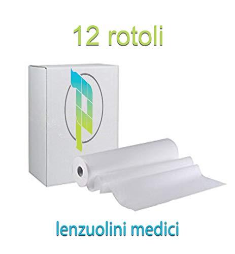 Palucart Rotolo 75 Carta Lettino 12 pz Lenzuolino Lenzuolini Medici massaggio medico altezza 60 2 veli medico