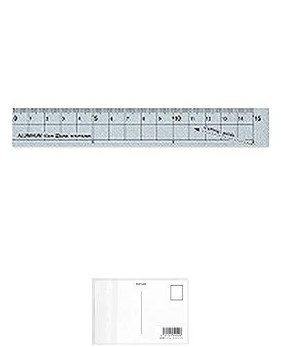 クツワ STAD アルミ定規 15cm XS15SV シルバー + 画材屋ドットコム ポストカードA
