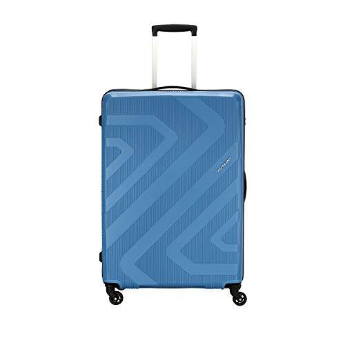 Kamiliant by American Tourister KAM Kiza Polypropylene 55 cms Ash Blue Hardsided Cabin Luggage (KAM KIZA SP 55CM - ASH BLUE)