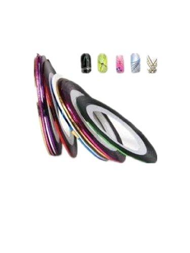 10 Couleurs Différentes Striping Tape Fil Bande Autocollant Sticker Nail Art Ongles de Autek's Nail Art