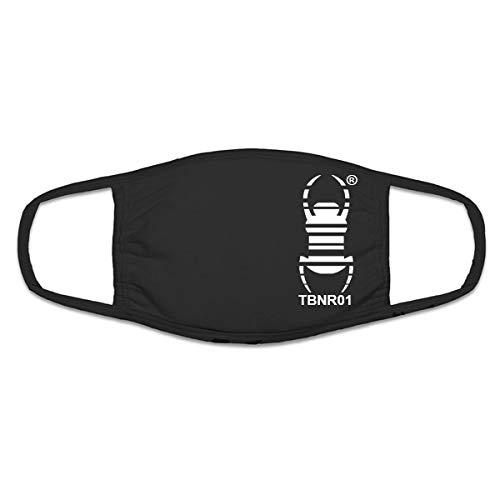 geo-versand 1 x Mundmaske schwarz trackbar mit Travelbug Geocaching